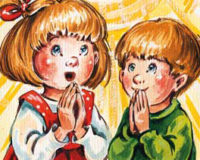 Bambini pregano